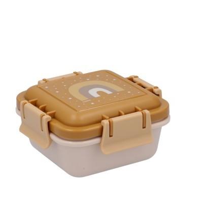 Caixas de alimentos mostarda