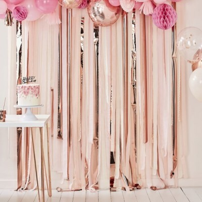 Backdrop rosa e rose gold