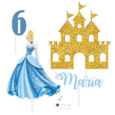 Cake topper Princesa Cinderela