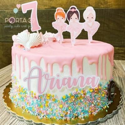 Cake topper Bailarinas