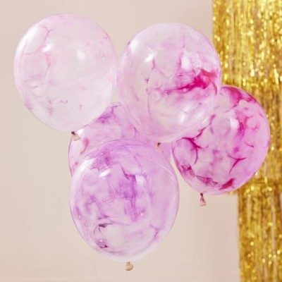 Balões marmoreados DIY