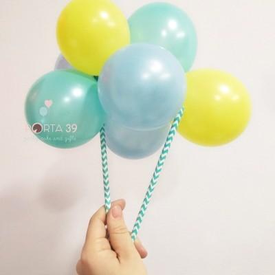 Cake topper grinalda de balões