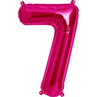 Balão numero 7 rosa