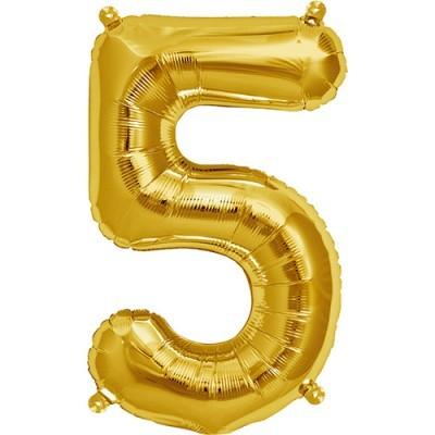 Balão numero 5 dourado