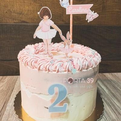 Cake topper Ballet