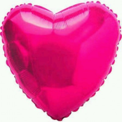 Balão coração fushia
