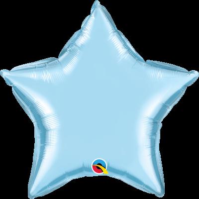 Balão estrela azul pastel