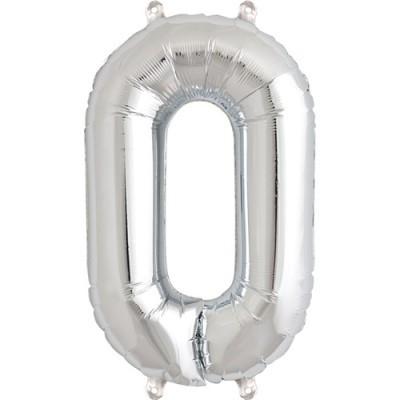 Balão numero 0 prata