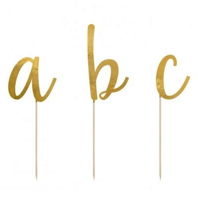 Cake topper letras