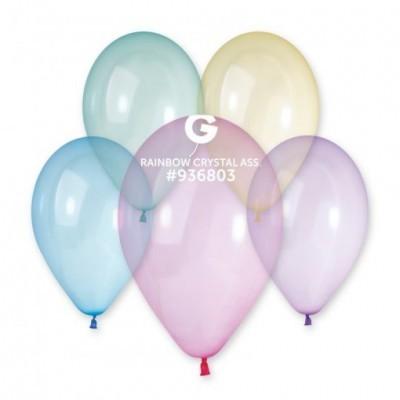 5 balões rainbow cristal