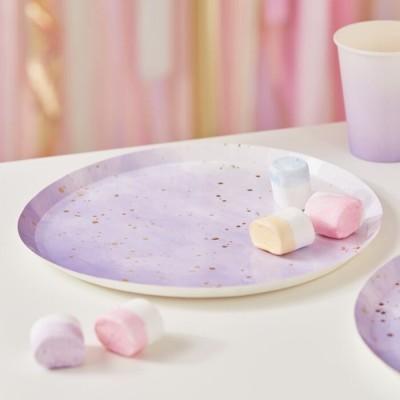 Pratos lilás