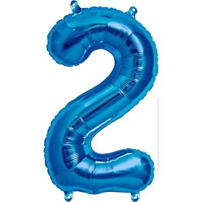 Balão numero 2 azul