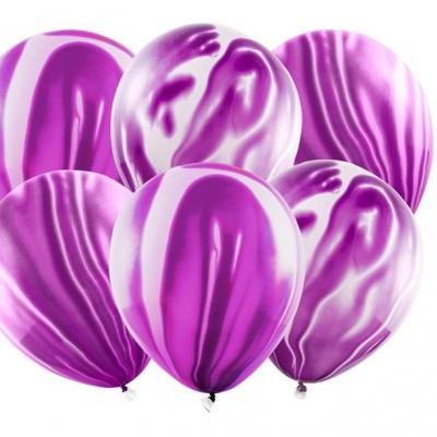 Balões marmoreados violeta