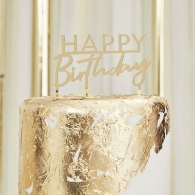 Cake topper dourado