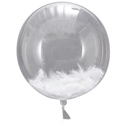 Balões orb com penas