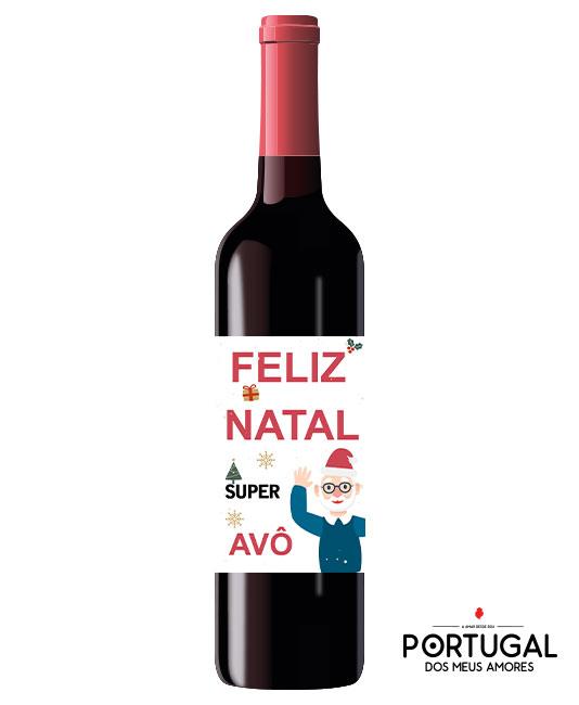 Garrafa de Vinho Personalizada  Natal