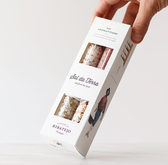 Conjunto - 4 tubos sal aromatizado | O Melhor do Ribatejo
