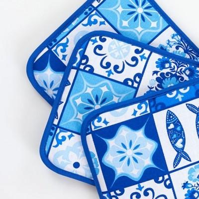 Pega de cozinha   Azulejo Azul