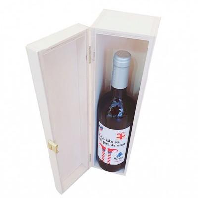 Caixa de Madeira com Garrafa Vinho