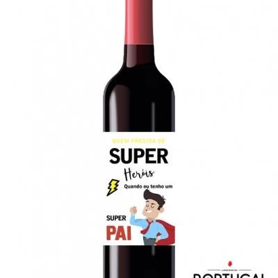 Garrafa de Vinho Personalizada Família