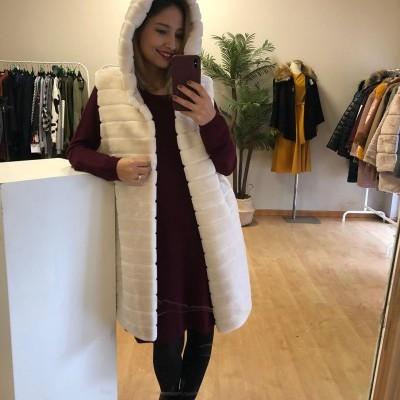 Colete Fur Long