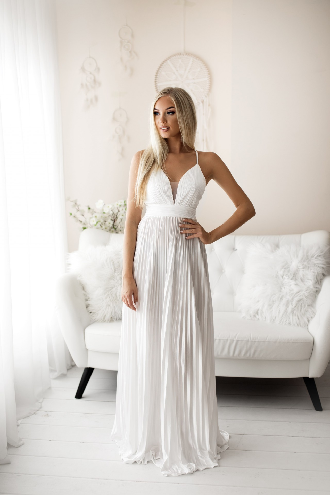 Vestido Mayara Branco