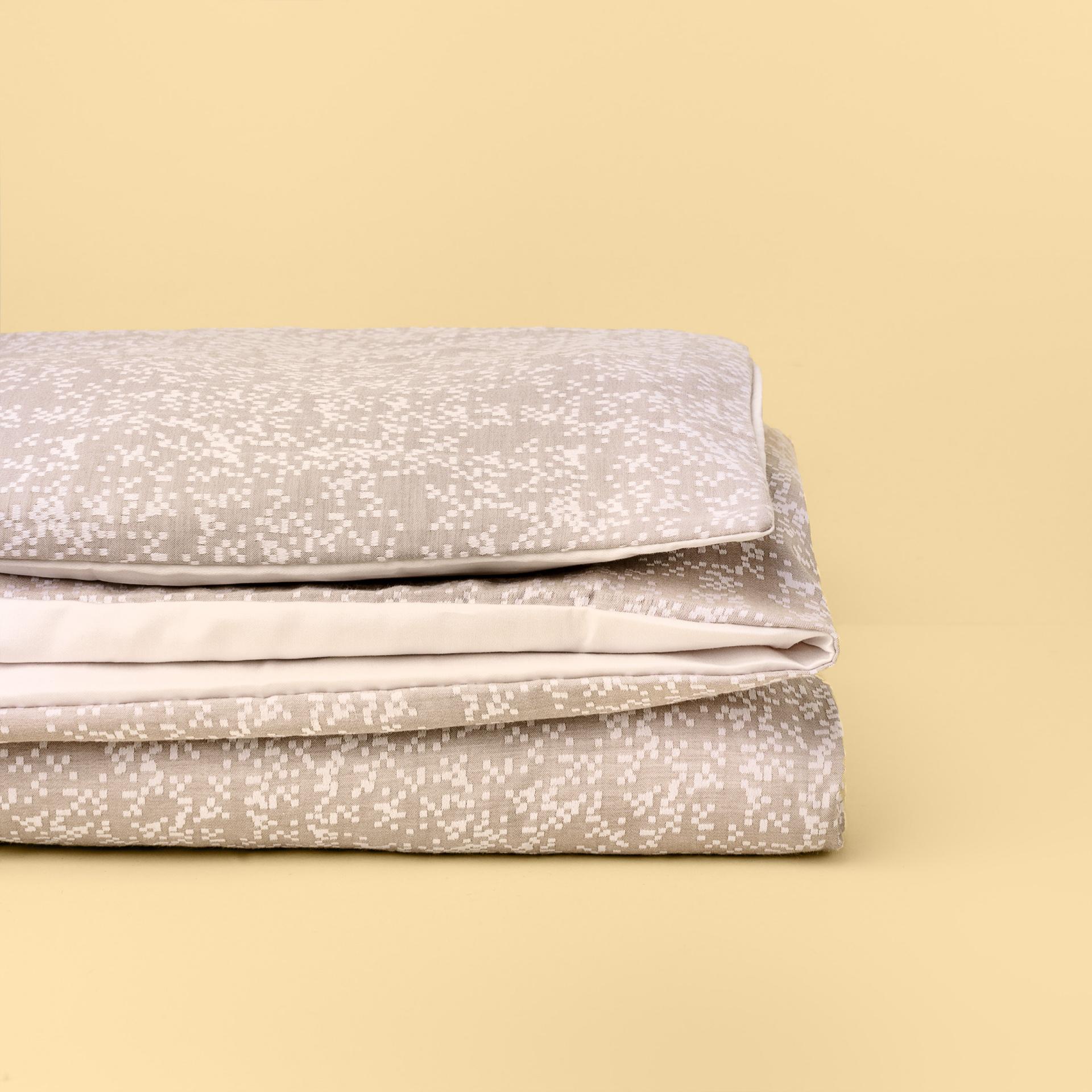 Têxteis de Cama - Pixel Castanho