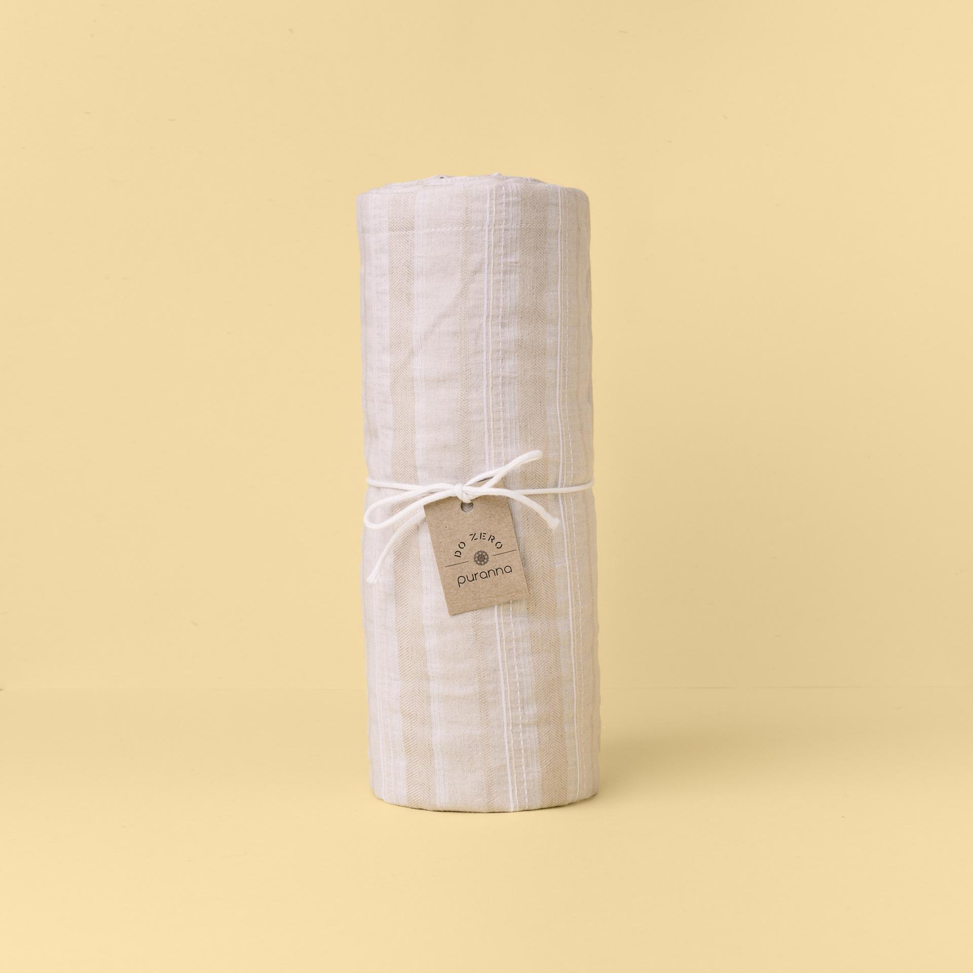 Têxteis de Mesa - Algodão e Linho Bege