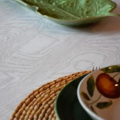 Têxteis de Mesa 100% Algodão - Amadeirado Branco