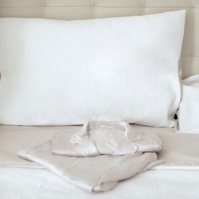 Conjunto de cama Flores Brancas
