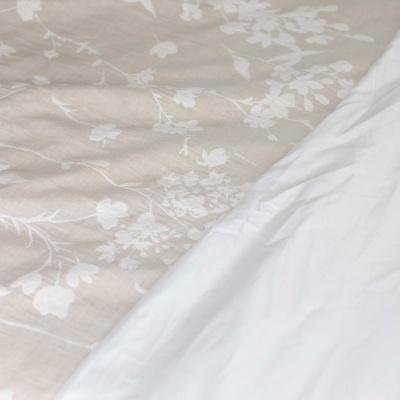Têxteis de Cama - Linho com Flores Bege