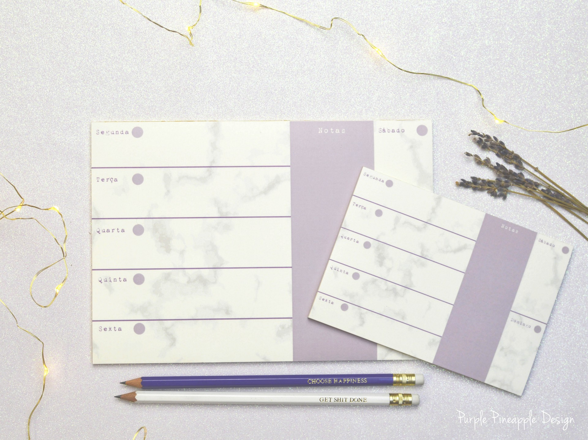 Marble & Lilac - Planner semanal