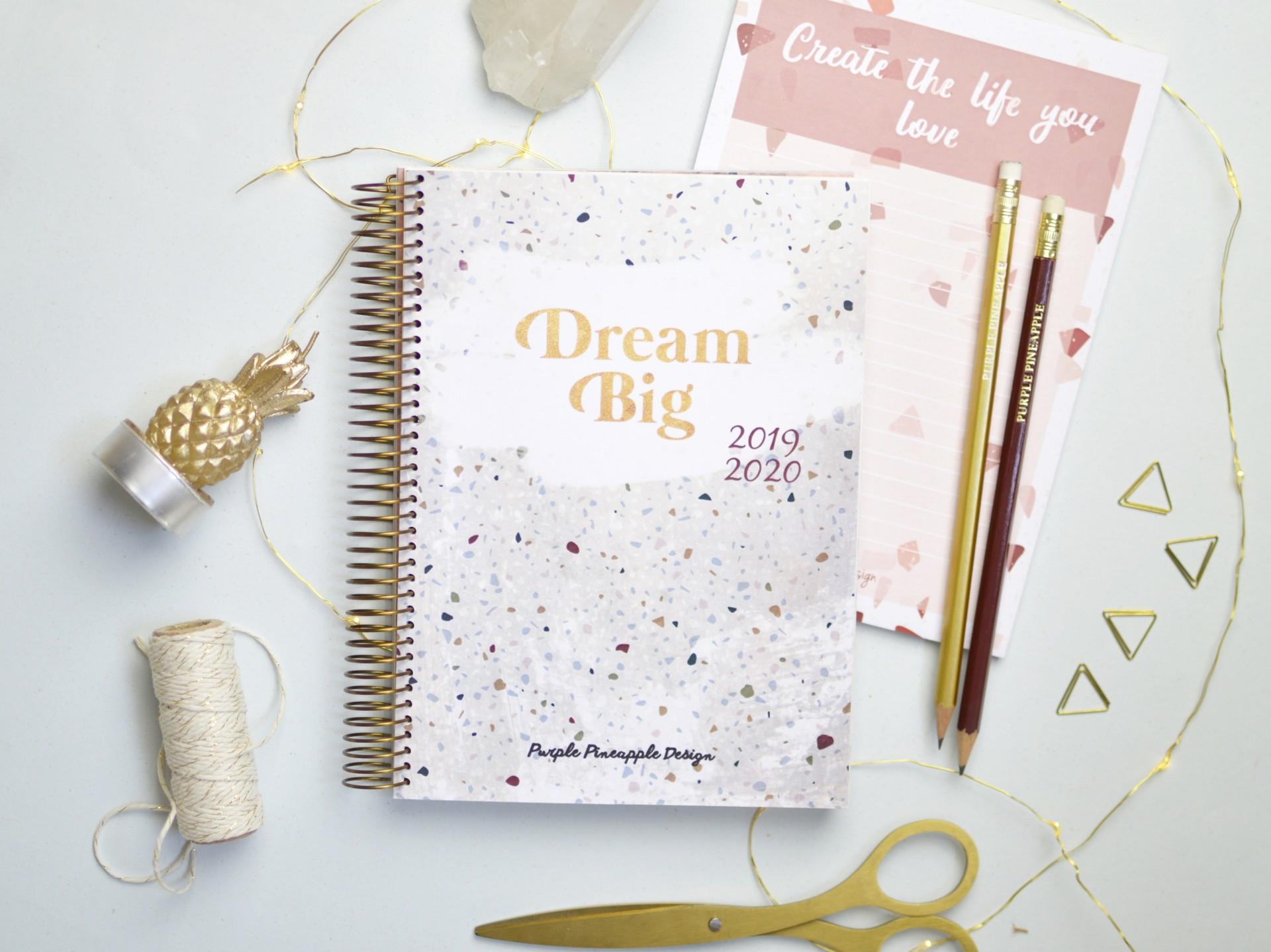 Agenda A6 Dream Big Terrazzo ⁂  2020/2021