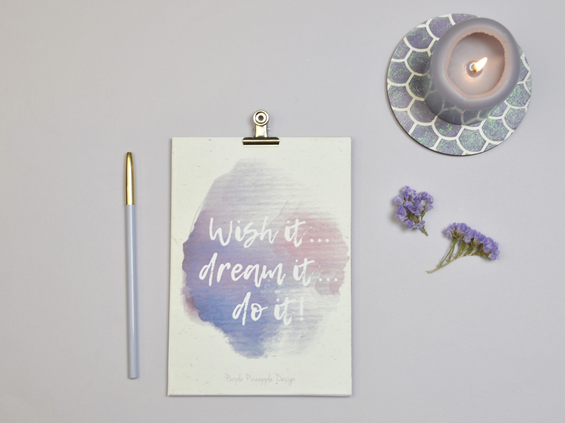 Prancheta Wish it, dream it, do it!