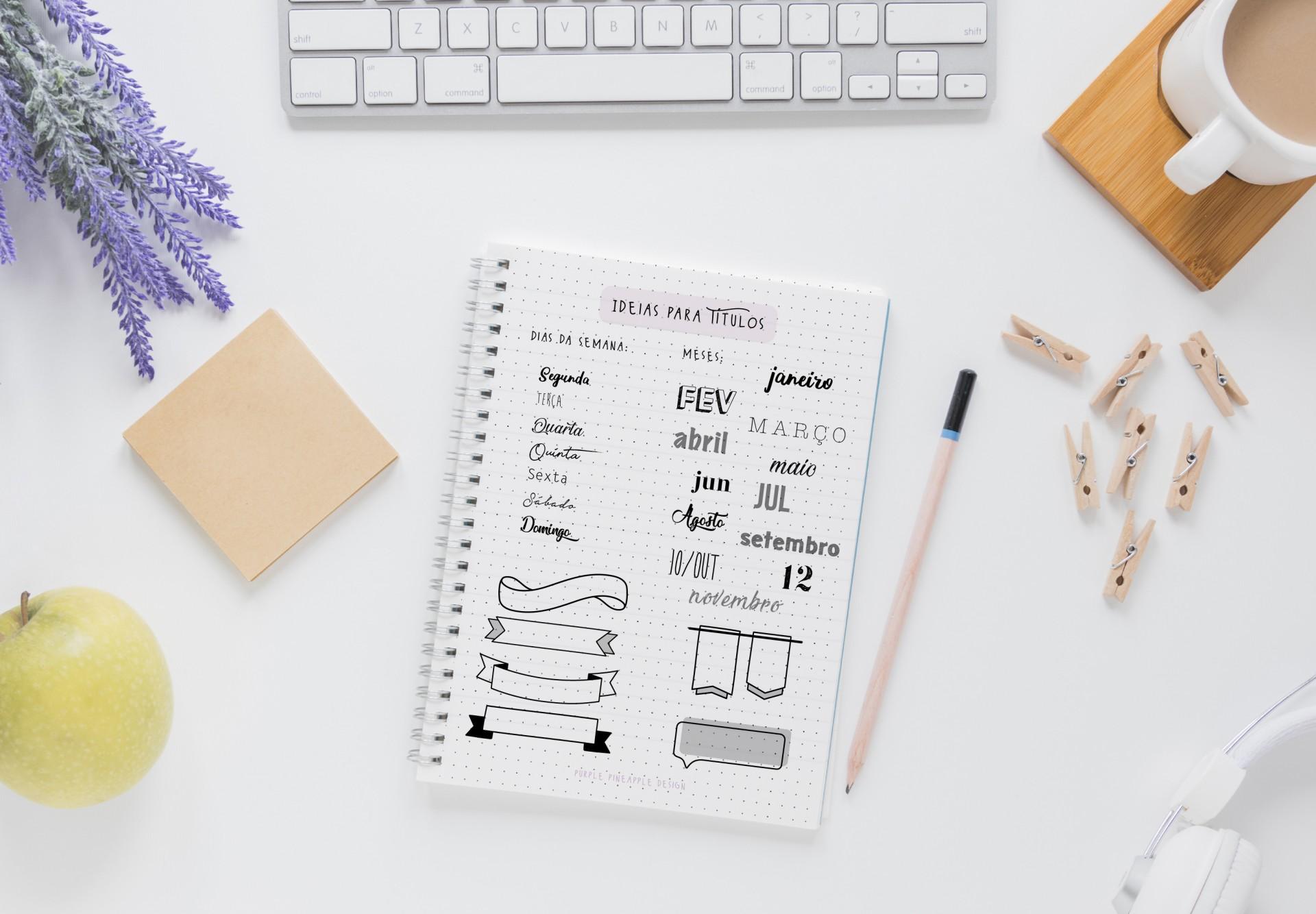 E-book Ideias simples para Bullet Journal
