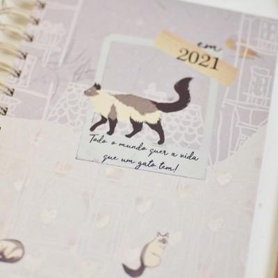 Agenda A6 2021 ✩ Vida de Gato ฅ^•ﻌ•^ฅ