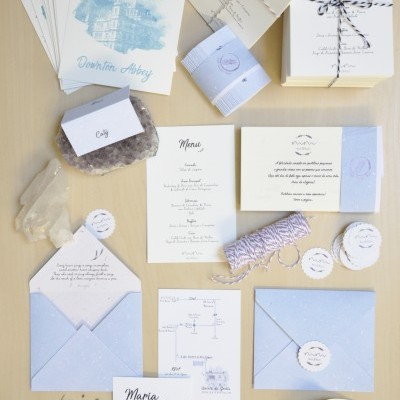 Pale Blue Wedding