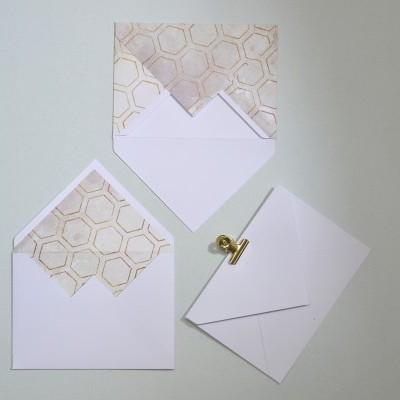 Envelope Hexágonos Dourados