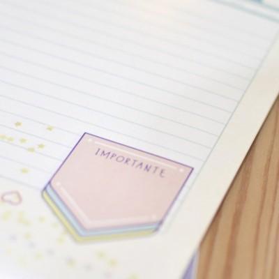 Bloco de notas: Apontamentos do dia