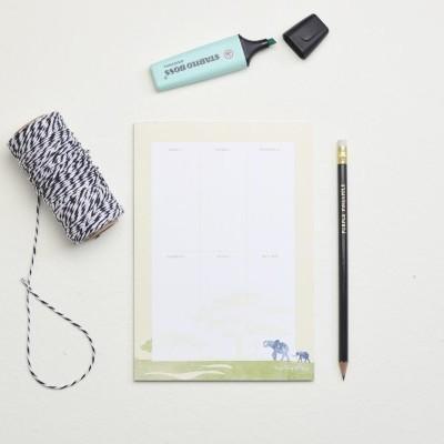 Planner semanal - Safari Vibes