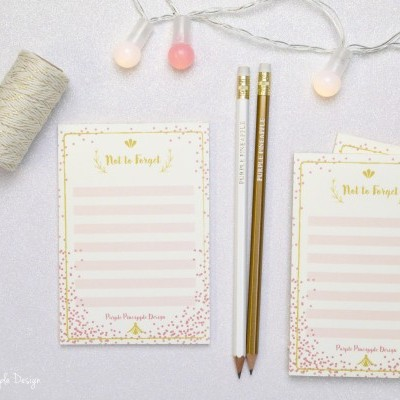 TO DO LIST PINK & GOLD