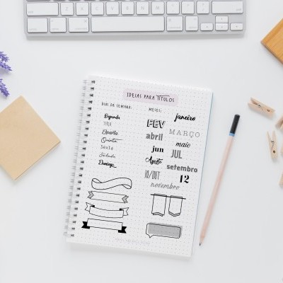 E-book Ideias simples para Bullet Journal