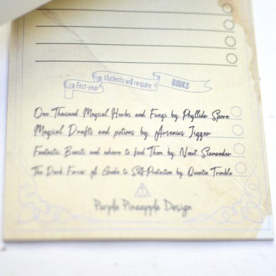Diagon Alley - Shopping List
