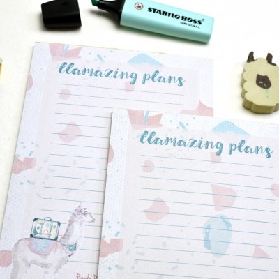 Llamazing Plans - Bloco de notas