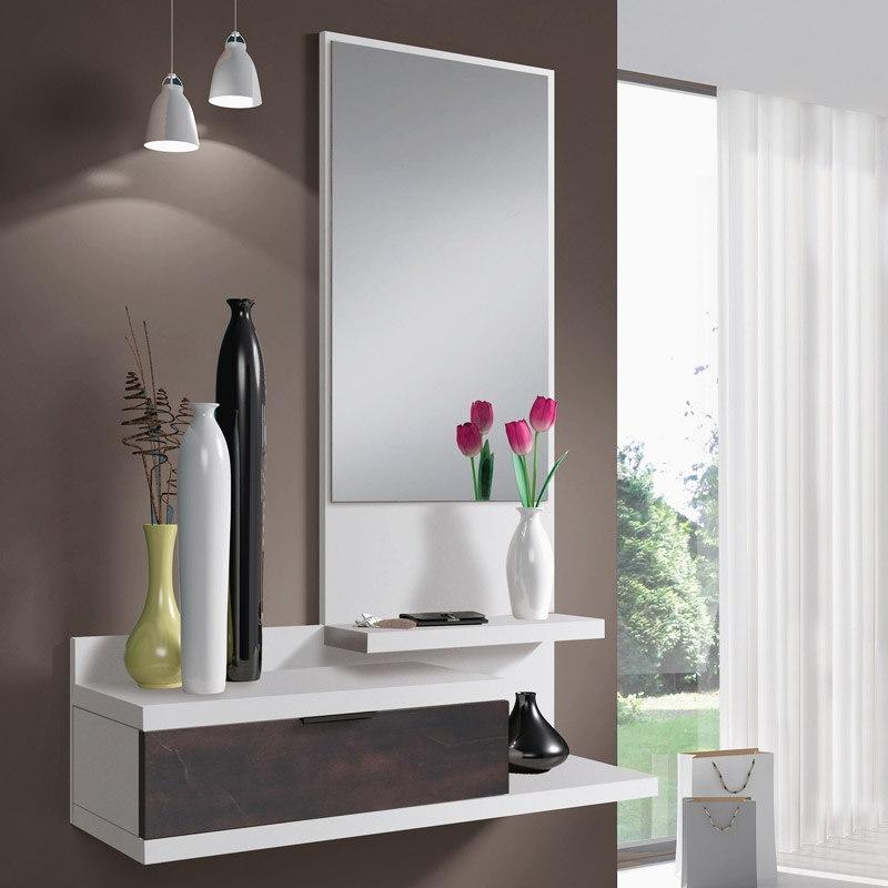 Móvel de Entrada com Espelho incluído - Disponível em 2 cores