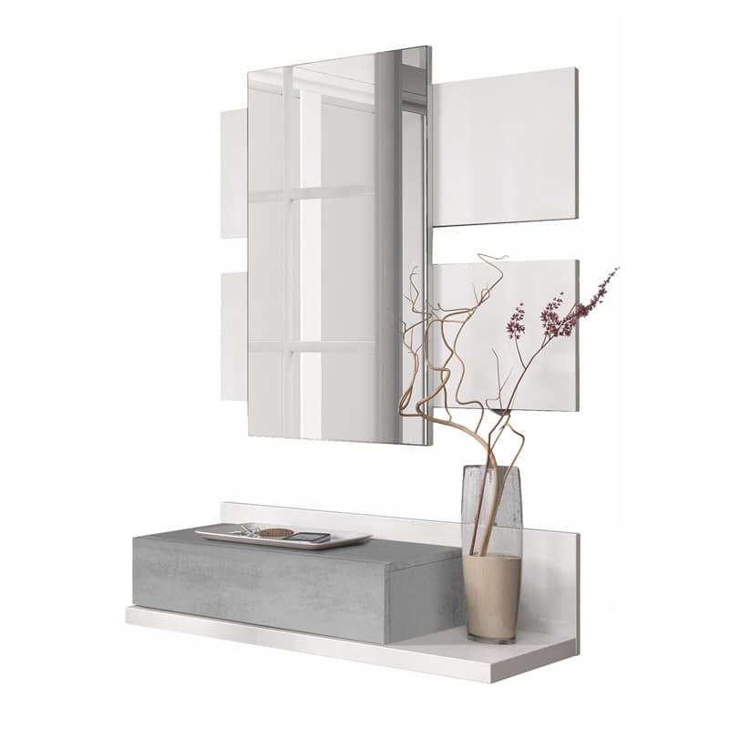 Móvel de entrada com espelho incluído - Disponível em 3 cores