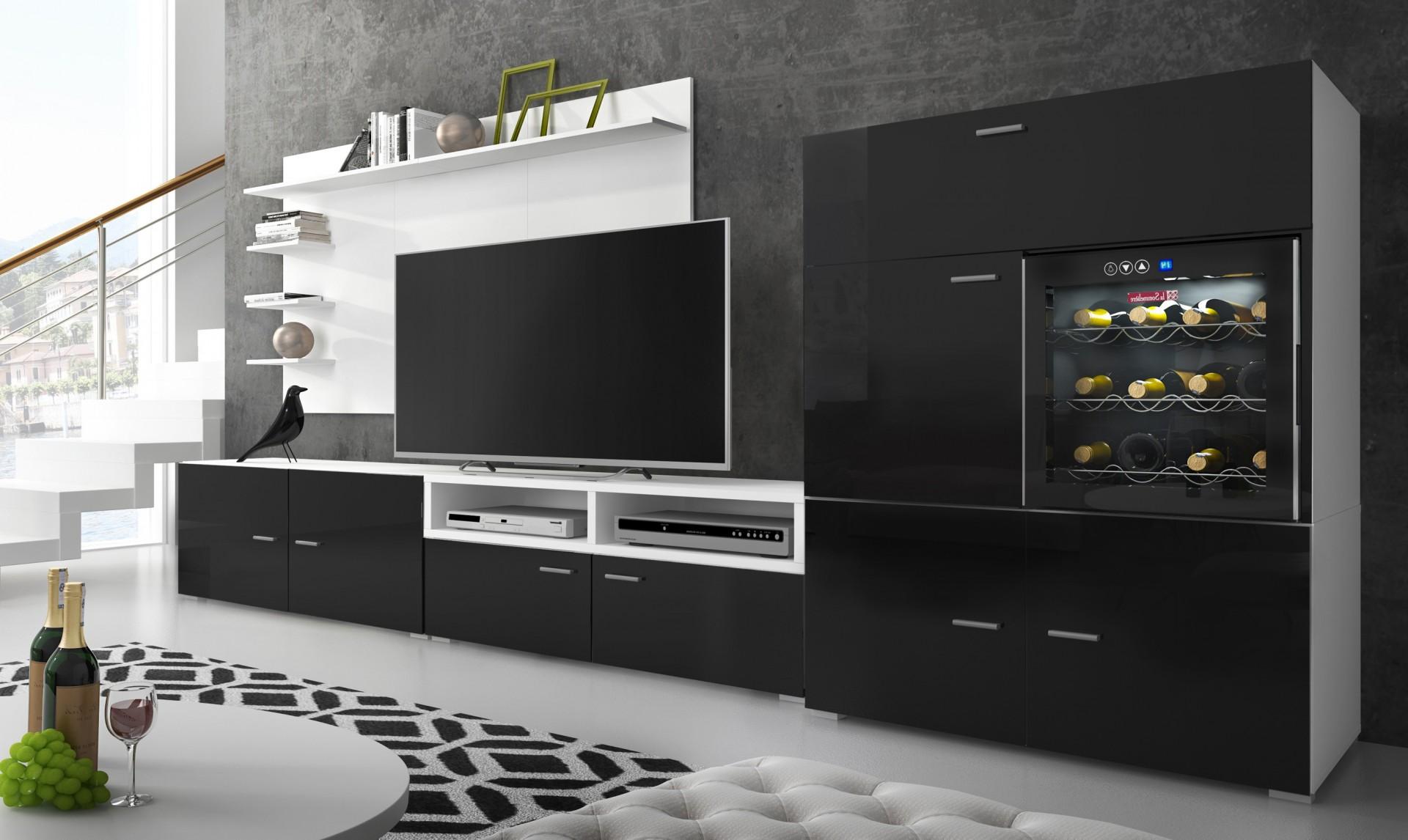 Móvel de Sala com Enoteca - 2 cores à escolha