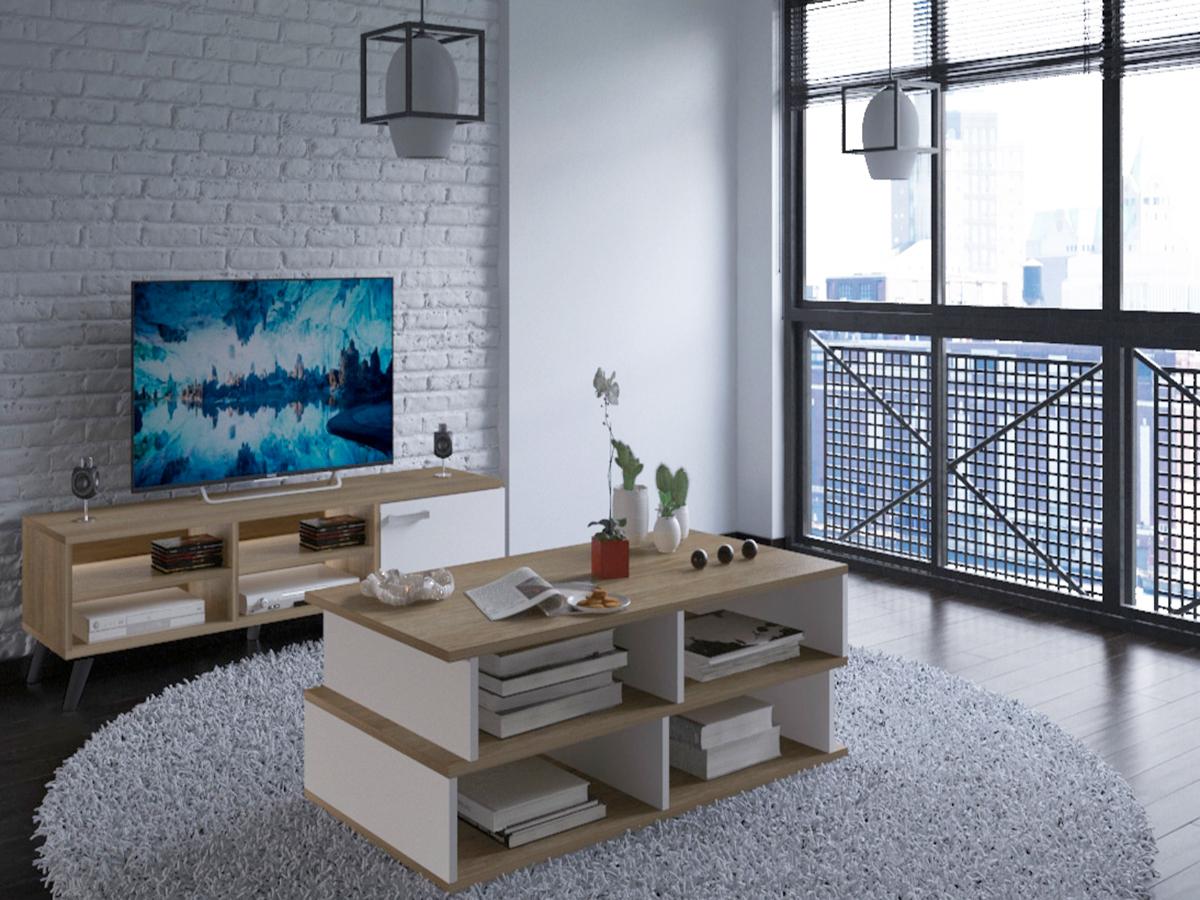 Mesa de Centro com muita arrumação - Disponível em 2 cores