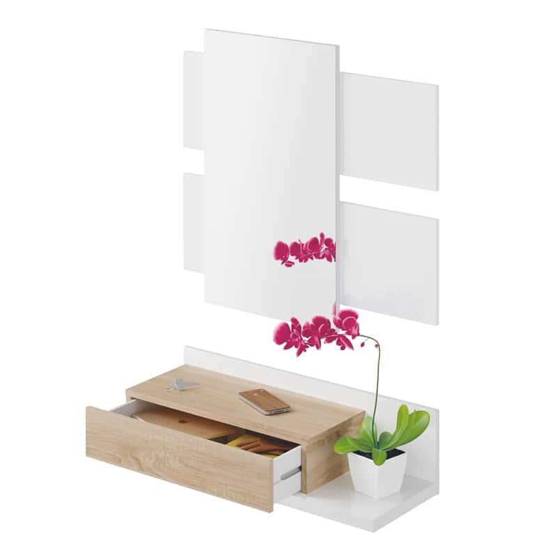Móvel de Entrada com Gaveta e Espelho incluído - Disponível em 3 cores