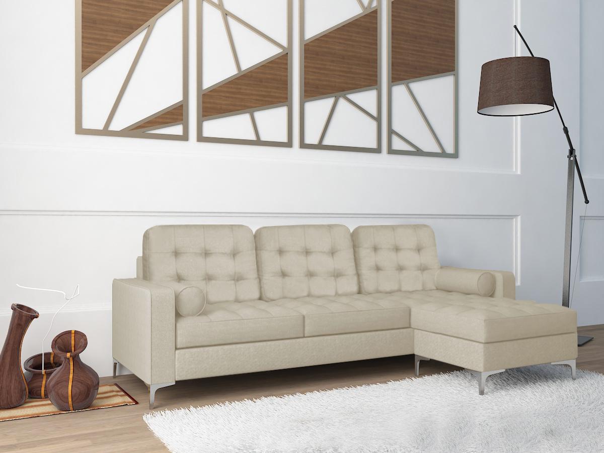 Sofá Chaise Long em tecido - disponível em 3 cores   Quer ...